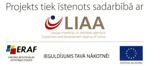 Projekts tiek īstenots sadarbībā ar LIAA ERAF - Ieguldījums tavā nākotnē